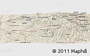 Shaded Relief Panoramic Map of Dlga