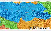 Political 3D Map of Buranovo