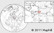 Blank Location Map of Dolna Brestnitsa