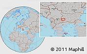 Gray Location Map of Dolna Brestnitsa