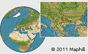Satellite Location Map of Dolna Brestnitsa