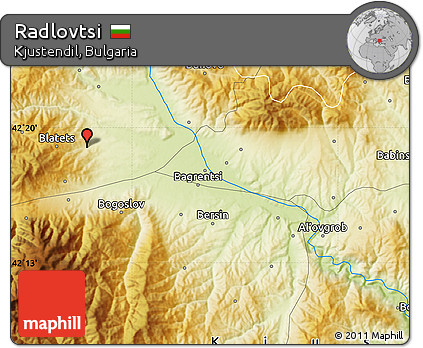 Physical Map of Radlovtsi