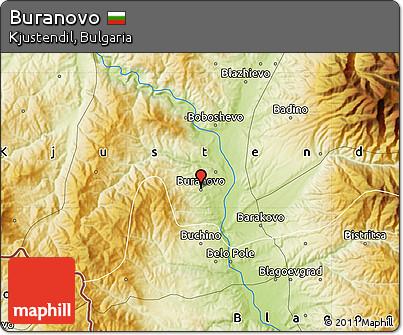 Physical Map of Buranovo