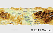 Physical Panoramic Map of Blatino