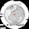 Outline Map of Miryantsi, rectangular outline