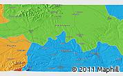 Political 3D Map of Malŭk Dol