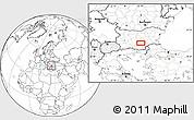 Blank Location Map of Malŭk Dol