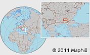 Gray Location Map of Malŭk Dol