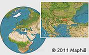 Satellite Location Map of Malŭk Dol