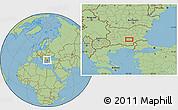 Savanna Style Location Map of Malŭk Dol