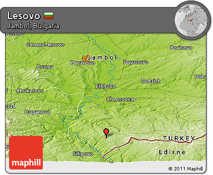 Free Physical Panoramic Map of Lesovo