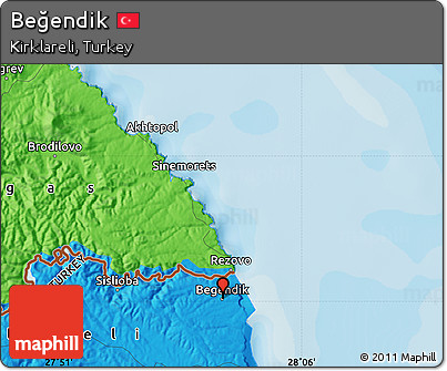 Free Political Map of Beendik