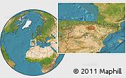 Satellite Location Map of Arnedo