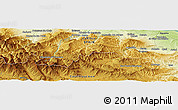 Physical Panoramic Map of Villaverde de Rioja