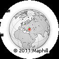 Outline Map of Türkeli, rectangular outline