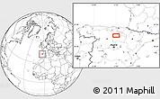 Blank Location Map of Burgos