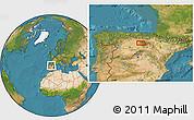 Satellite Location Map of Burgos
