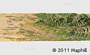 Satellite Panoramic Map of Duruelo de la Sierra