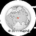 Outline Map of Uchquduq, rectangular outline