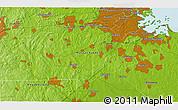 Physical 3D Map of Cedar Grove