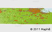 Physical Panoramic Map of Cedar Grove