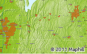 Physical Map of Longmeadow