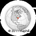 Outline Map of Ashland, rectangular outline