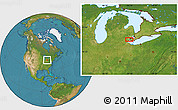 """Satellite Location Map of the area around 42°9'30""""N,83°13'29""""W"""