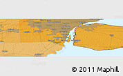 """Political Panoramic Map of the area around 42°9'30""""N,83°13'29""""W"""