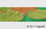 "Satellite Panoramic Map of the area around 42°9'30""N,83°13'29""W"