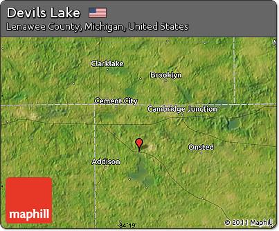 Free Satellite Map Of Devils Lake
