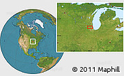 """Satellite Location Map of the area around 42°9'30""""N,88°19'29""""W"""