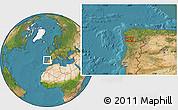 Satellite Location Map of Vigo