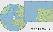 Savanna Style Location Map of Vigo
