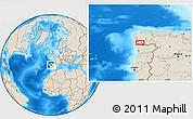 Shaded Relief Location Map of Vigo