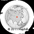 Outline Map of Hongshukou, rectangular outline