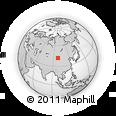 Outline Map of Haju, rectangular outline