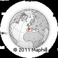 Outline Map of Sallent De Gállego, rectangular outline