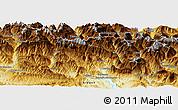 Physical Panoramic Map of Sallent de Gállego
