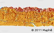 Political Panoramic Map of Sallent de Gállego