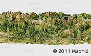 Satellite Panoramic Map of Sallent de Gállego