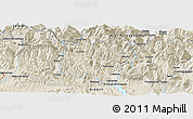 Shaded Relief Panoramic Map of Sallent de Gállego