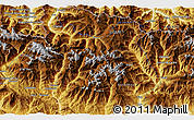 """Physical 3D Map of the area around 42°35'40""""N,0°55'29""""E"""