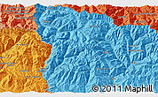 """Political 3D Map of the area around 42°35'40""""N,0°55'29""""E"""