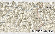"""Shaded Relief 3D Map of the area around 42°35'40""""N,0°55'29""""E"""