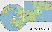 "Savanna Style Location Map of the area around 42°35'40""N,0°55'29""E"
