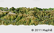 Satellite Panoramic Map of Bagnères-de-Luchon