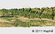 Satellite Panoramic Map of Jaca