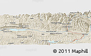 Shaded Relief Panoramic Map of Jaca