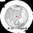 Outline Map of Tohom, rectangular outline